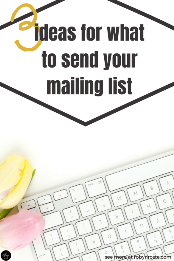 If you've been a freelance writer for any length of time I'm betting someone has told you it's time to get your email list started. I'm right, aren't I?