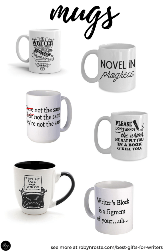 Best gifts for writers. Writing mugs need no introduction. They're silly, they're funny (to writers), and they hold coffee. AKA the perfect gift.