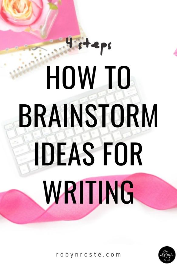 Before I got into the habit of writing and publishing on a schedule I couldn't figure out how to brainstorm ideas. Sitting down to write became terrifying.