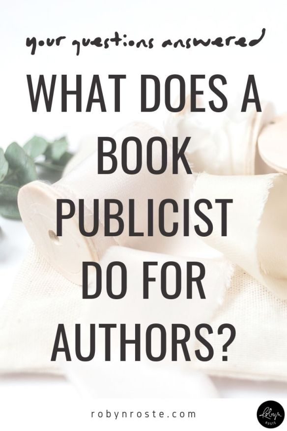 What does a book publicist do? It's a common question. In general, it is a broad name for a person who has direct and indirect influence on book sales.