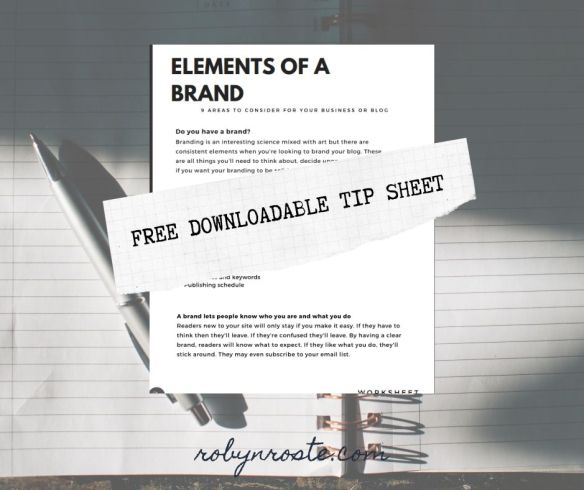Elements of a Brand Worksheet