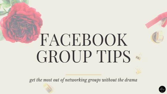Facebook Group Tips | Avoiding the Drama
