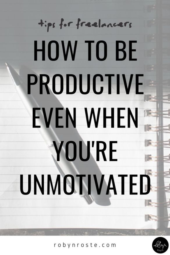 Setting goals and dreaming big is well and good but figuring out how to be productive even when you don't feel like is key to a thriving freelance business.
