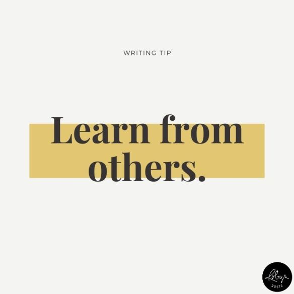 Writing tip 017: Learn from others