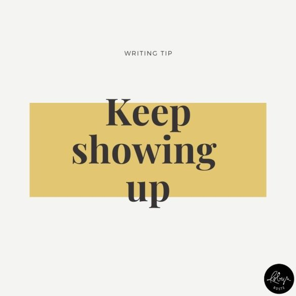 Feeling insecure and blah about your writing and/or writing career isn't going to help you move things forward. If you want to get better, you need to keep showing up. Keep pushing, keep learning, keep growing, keep trying.