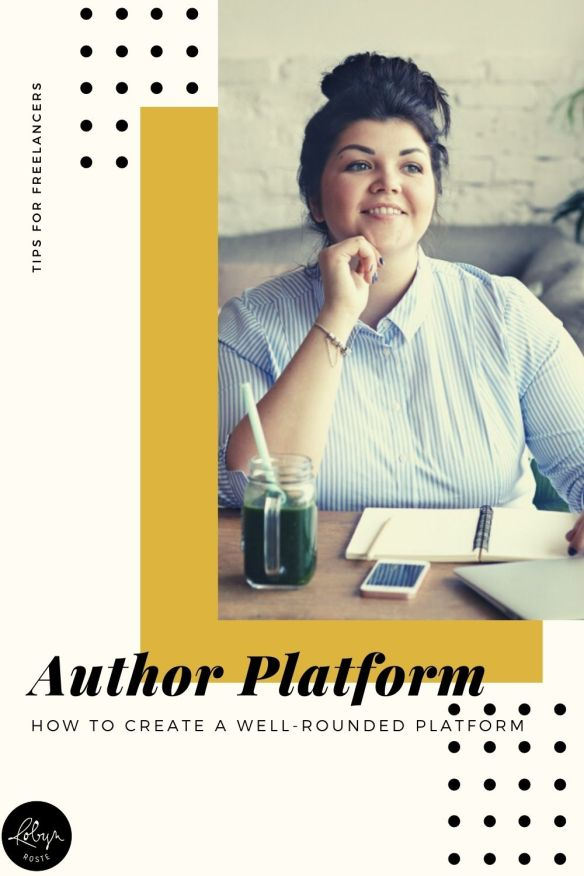 Here are a few other things that make up a well-rounded author platform.  - Social media followers and existing contacts/fans/readers/email subscribers—30% - Knowledge and expertise on your topic—25% - Personality and follow through—25% - Previous work (articles, books, etc.)—20%