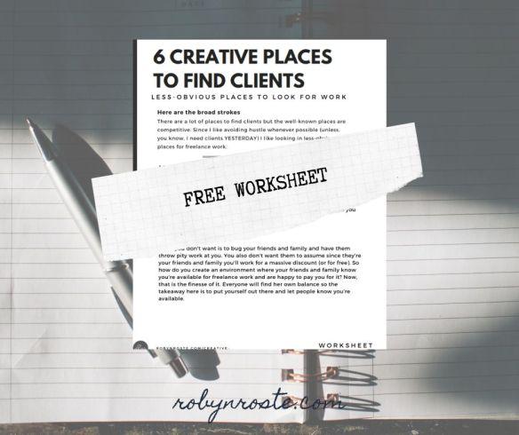 Free downloadable worksheet