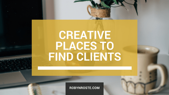 creative places to find clients