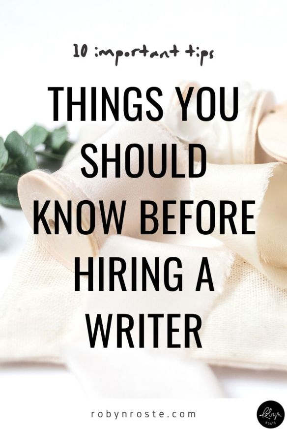 Here are 10 tips for hiring a writer. It may feel scary to ask for things like revisions and tweaks but writer's expect revisions within reason. It's OK.