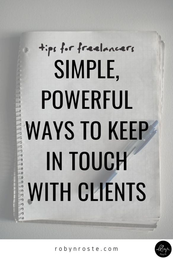As a freelancer, one of the most powerful ways you can keep work coming in is from a basic keep in touch strategy.  This simple yet effective tactic is so often overlooked. I guess because new clients and leads are a lot shinier. More exciting. Undiscovered. But I'm more interested in paying gigs. So I stay in touch with existing warm leads and previous clients.