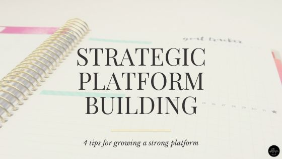 Smart and strategic platform building tips for writers