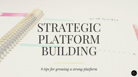 Smart and strategic platform building tips for writers