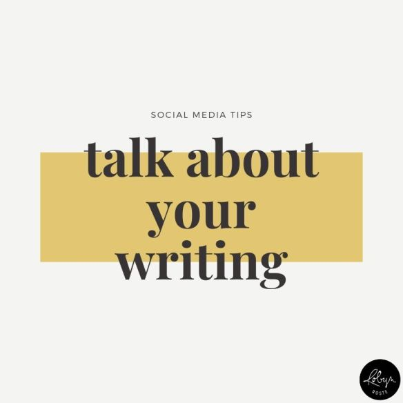 Promote your writing idea 3. Have you written a book? Then why not talk about that on social media.