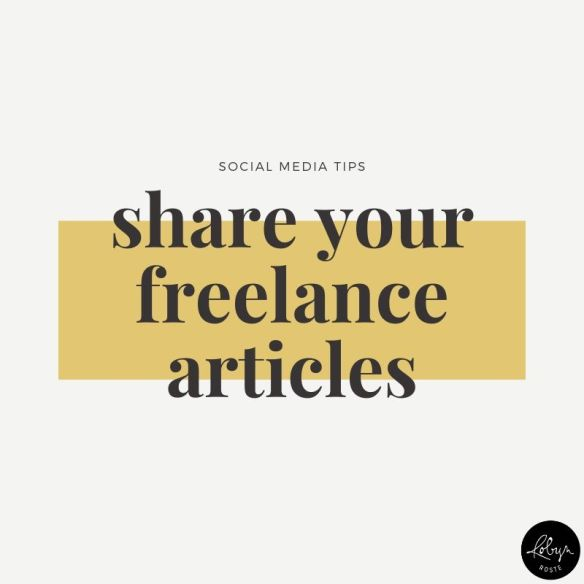 Idea 5. If you can post your freelance work—do it! Share them all over social media.