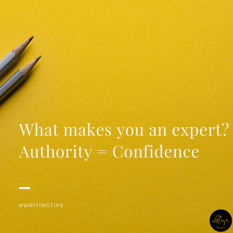 What makes you an expert? Authority = Confidence