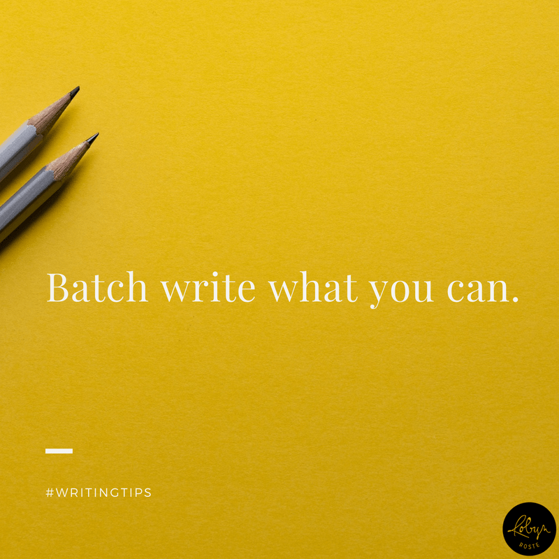 Batch write what you can. Writing tips