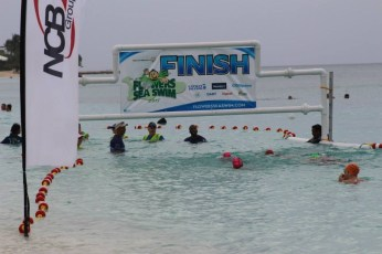 2015 Flowers Sea Swim Finish Line