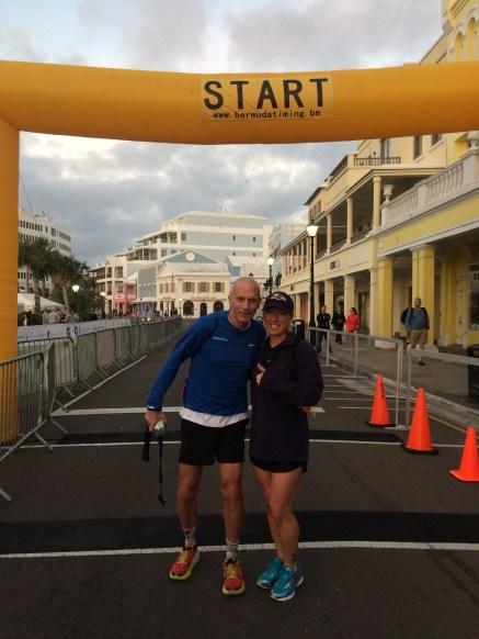 Pre-race with Bart Yasso, Bermuda Marathon January 2017
