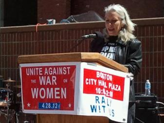 Robyn Speaking for Unite Against the War on Women