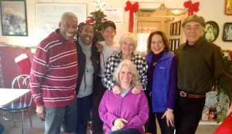 Robyn & Peg with some of their family of choice (Mom, Kim & Reggie, Terry & Greg)