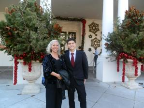 Robyn w/her nephew Nicholas at a White House Holiday Party