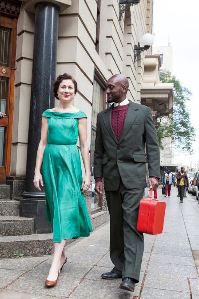Dignity, sophistication and love: Janet (Kate Liquorish) and Can Themba (Leroy Gopal). Photograph courtesy Market Theatre.