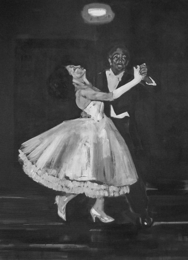 Dancing. A painting by Rael Jero Salley. Photograph courtesy Gallery Momo.