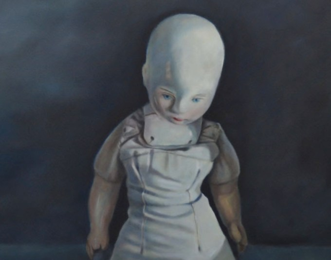 Ella's Doll (2015) oil on canvas, by Karin Preller. Photograph courtesy Lizamore & Associates.