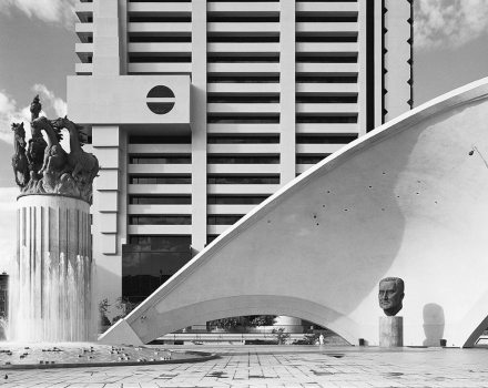 A monument to JG Strijdom, late prime minister. A 1982 photograph by David Goldblatt.