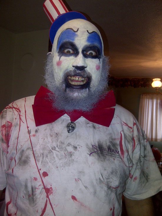 Rob Zombie costume contest winner scary