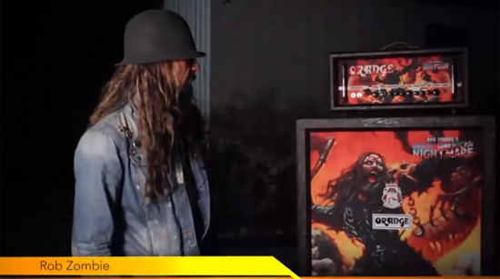 Rob Zombie Ornage Amps
