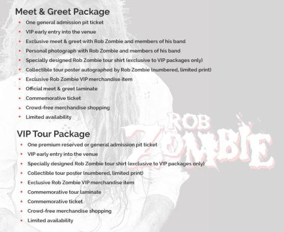 Rob Zombie Meet and Greet