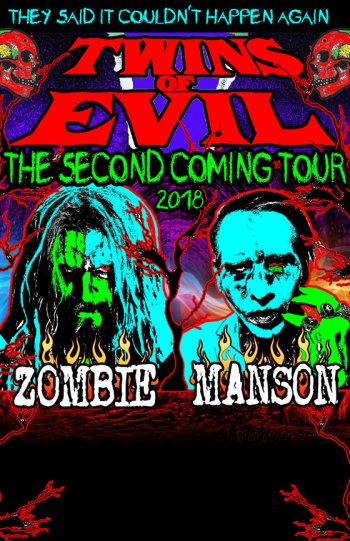 Twins of Evil 2018 poster Rob Zombie Marilyn Manson