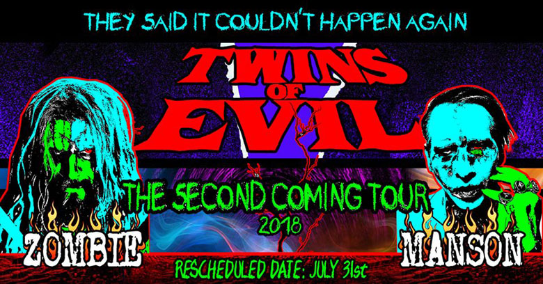 twins of evil announce rescheduled show rob zombie