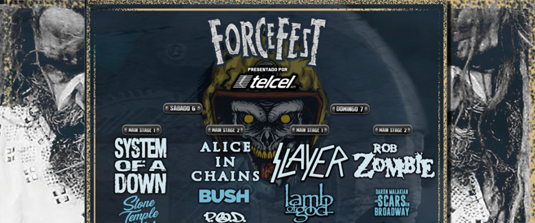 Rob Zombie Force Fest Mexico 2018