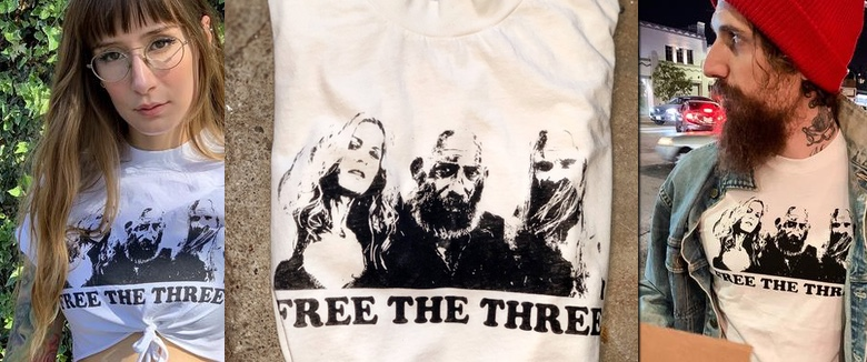 Free The Three Shirt Zomboogey Rob Zombie