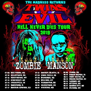 Rob Zombie Marilyn Manson Hell Never Dies tour 2019