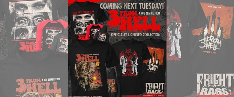 Fright Rags 3 From Hell Rob Zombie merchandise