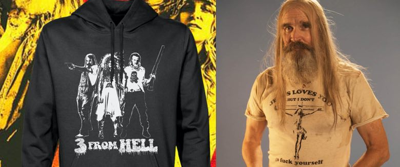 3 from hell hoodie and shirt zomboogey