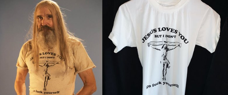 Zomboogey Otis Driftwood Jesus Loves You shirt Rob Zombie 3 From Hell