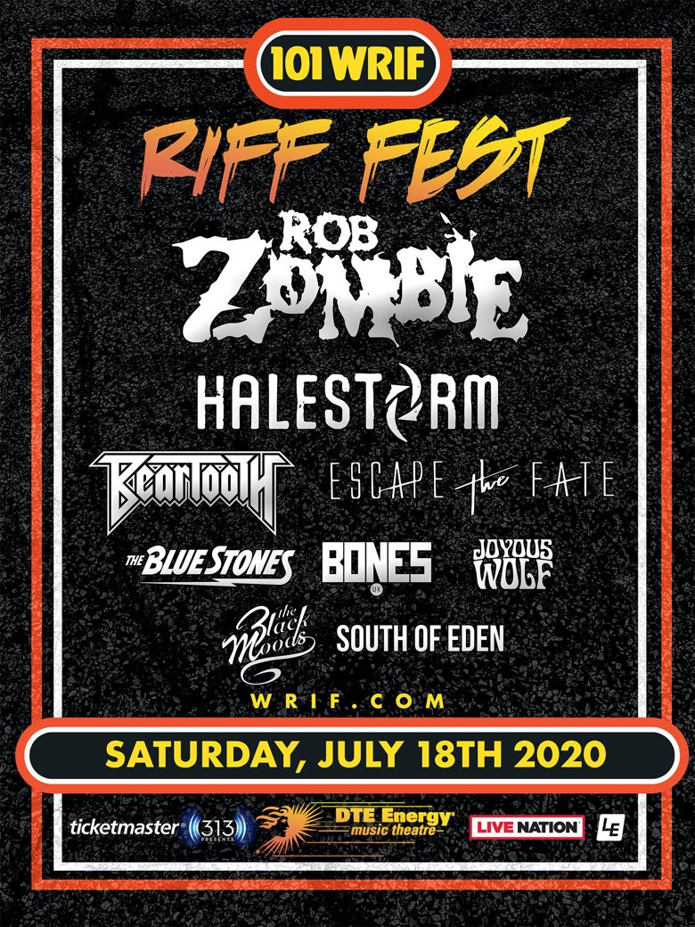 Riff Fest 2020 poster Rob Zombie