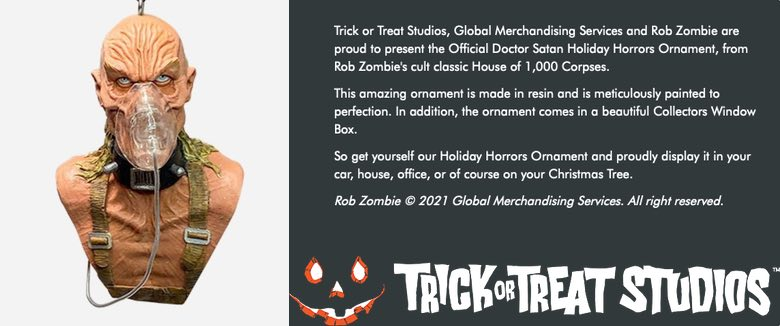 Rob Zombie Trick Or Treat Studios Dr Satan House Of 1000 Corpses official merchandise