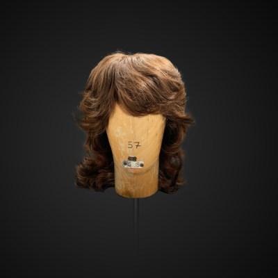 Parrucca castana stile anni '70