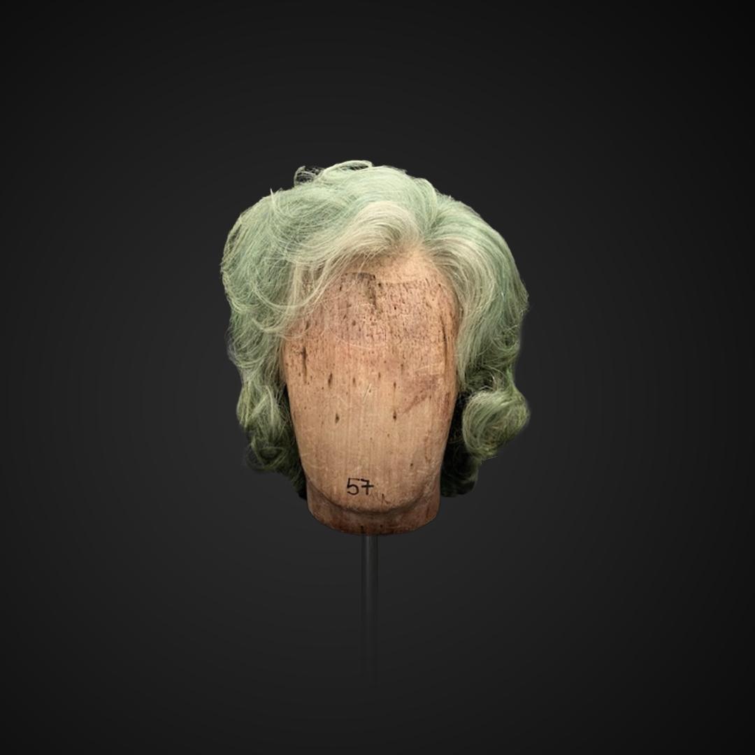 Parrucca da uomo verde