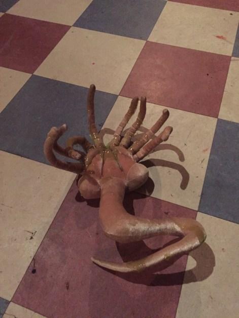 """The slimy facehugger from """"Aliens vs Beckett"""""""