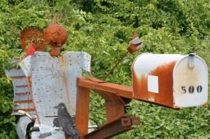Bizarre mail box.