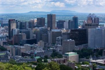 Montréal from Mount Royal park.