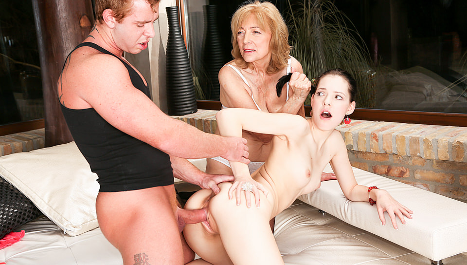 Age Play 3-Way: Giovane Anie & 69YO Slut - Anie Darling, Zsu, Chad Rockwell