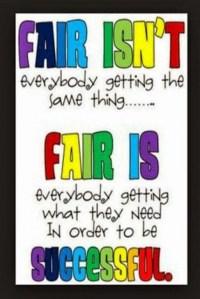 Fair != Same