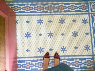 Tile in the entryway